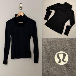 Lululemon Black V-Neck Women's Run Shirt - Size 2